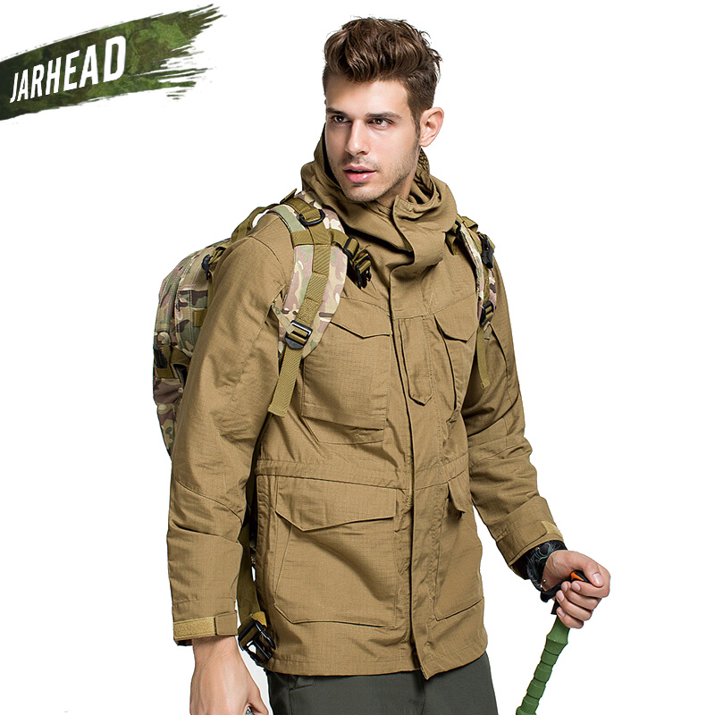 Jackets Humorous Classic American Outdoor Coats High Quality Mens Waterproof Windproof Hunting Middle Long Coat M65 Tactical Windbreaker Trench Bright And Translucent In Appearance Sports & Entertainment