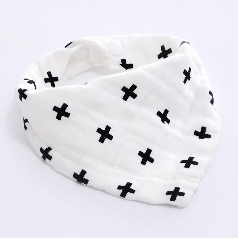 AZEOSHE Baby Bibs Boy Girl Bandana Water Absorb Bib Burp Cloth Triangle Cotton Baby Scarf Burp Baby Christmas Accessories