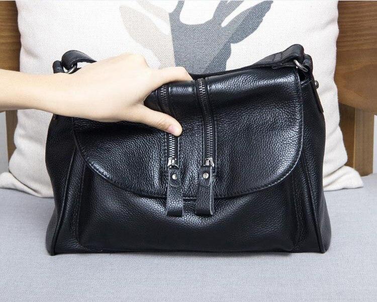 compras das senhoras bolsa de couro genuíno
