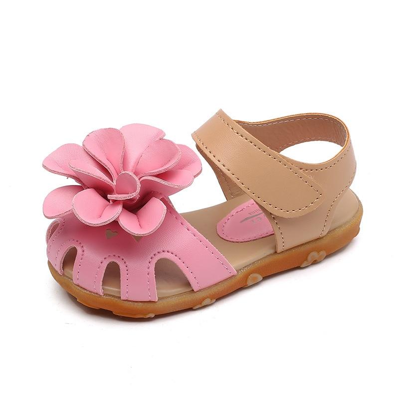 little girl summer sandals Rose red artificial leather dress sandals for girls beach water shoes kids princess sandals girls