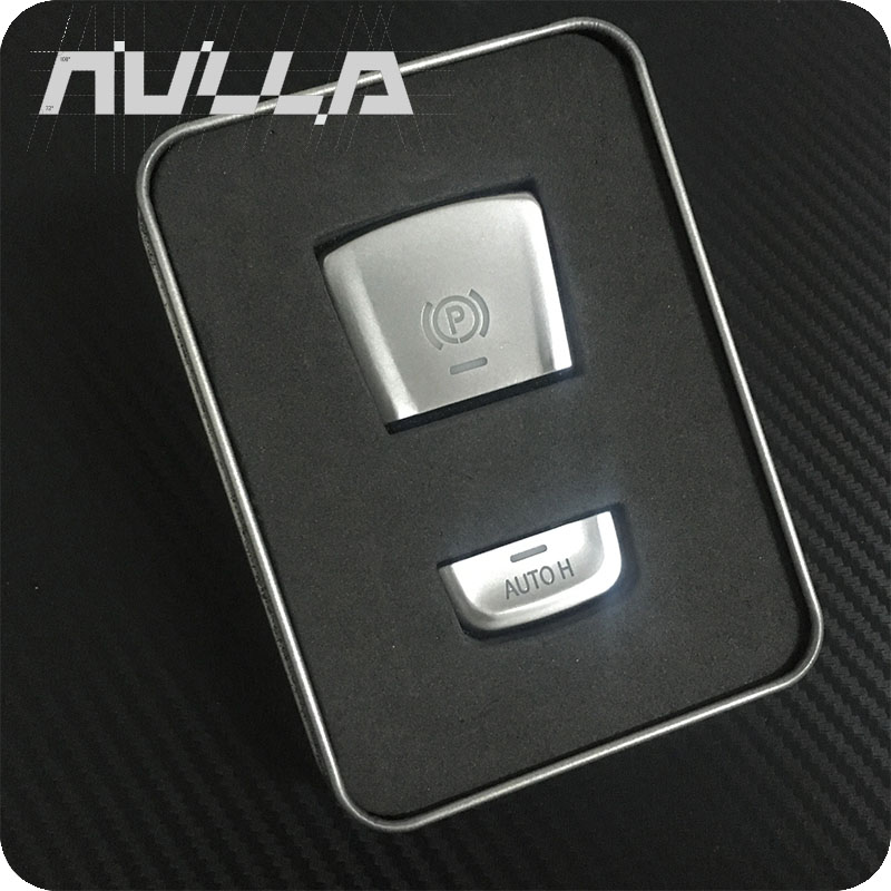 NULLA P Button Parking Brake Switch Chrome Trim Stickers Cover sticker For <font><b>BMW</b></font> 5 Series <font><b>G30</b></font> 528i 530i <font><b>540i</b></font> image