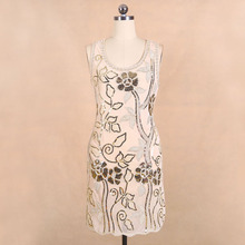 BLINGSTORY Hot Selling New Fashion Ladies Club Sequin womens summer dresses with flowers KR3076-1