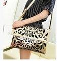 2015 Vintage National Womens Trend Handbag Cutout Envelope Bag Shoulder Messenger Bag Day Clutch women bags, free postage