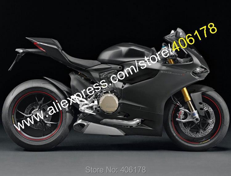 Лидер продаж, дешевые для Ducati 1199/1199 s 2012 2014 1199 1199 S 899 Все Черный Кузов Мотоцикл обтекатель комплект (литья под давлением)