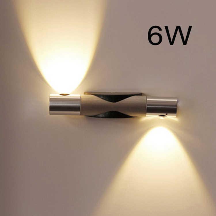 Горячая продажа 6 Вт современный алюминиевый светодиодный настенный светильник AC85-265V отель Туалет и ванная комната спальня 360 Вращение светодиодный настенный светильник Бесплатная доставка