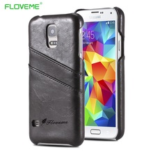 FLOVEME Classic PU Leather Case For Samsung Galaxy S5 S6 S7 Edge S8 Plus Card Slot Cases Note 5 4 Funda Capa
