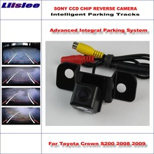 Liislee Dynamic Guidance Rear Camera For Toyota Crown S200 2008 2009 / 580 TV Lines HD 860 Pixels Parking Intelligentized liislee dynamic guidance rear camera for toyota ist urban cruiser 2007 2016 hd 860 pixels parking intelligentized