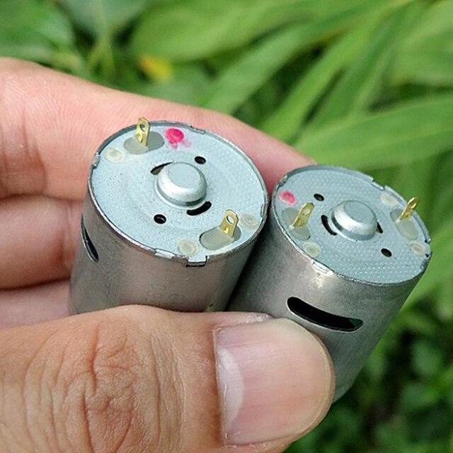 Cepillo de carbón de alto par 370 Motor DC 3V 6V 7,2 V 12V Micro motor duradero fuerte magnético maquinaria eléctrica 7500 rpm-28800 rpm caliente
