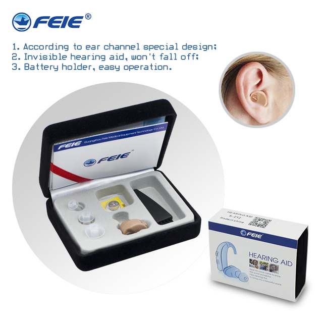 Free shipping headphones deaf hearing aid Ear Care Wireless Earphone Deaf Audiofone S-212 With Battery A10 Drop Shipping Medico