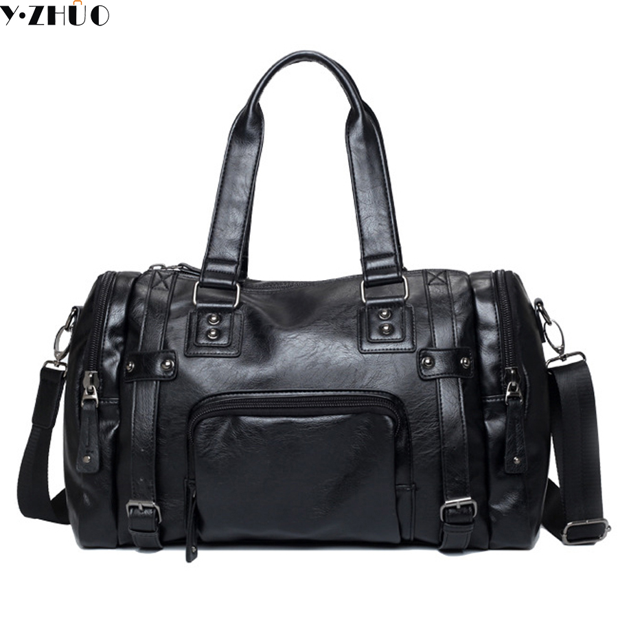 Men's Travel Bags Brand luggage Waterproof suitcase duffel bag Large Capacity Bags casual High-capacity leather handbag цена