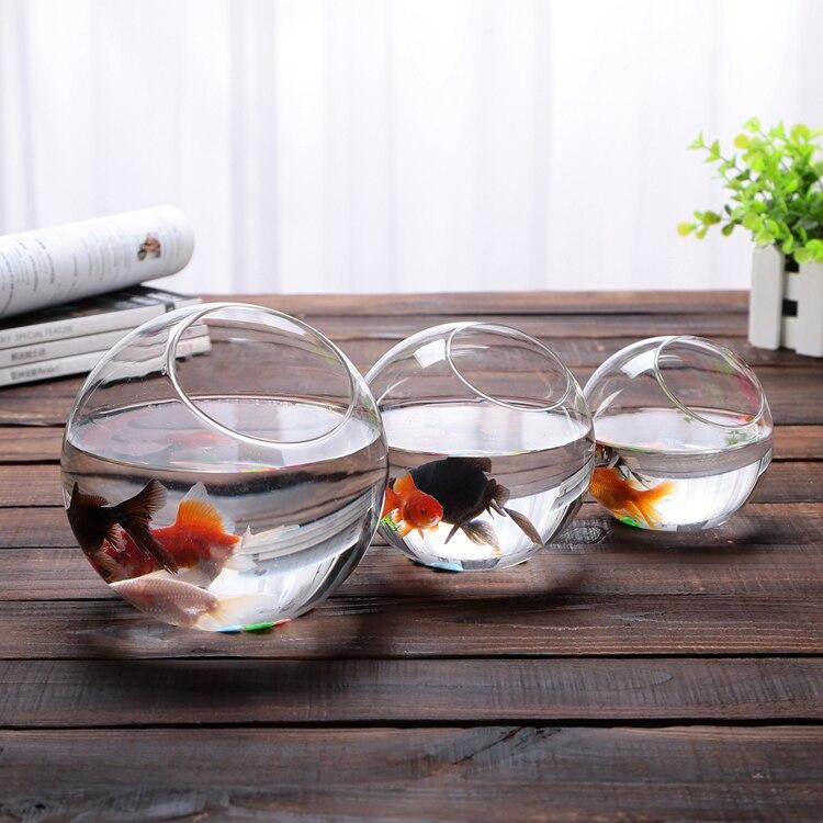 2015 New Clear Glass Bowl Vase Fish Tank Succulents Terrarium
