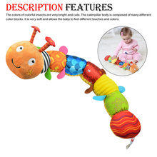 Music Caterpillar Height Rod Multi-function Musical Toy Educational Stuffed Plush Caterpillar Toy Baby Intelligence Develope цена 2017