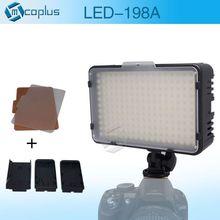 Mcoplus 198 LED Video Foto Luz de La Lámpara de Iluminación para DV videocámara y canon nikon pentax sony slr digital olympus panasonic cámaras