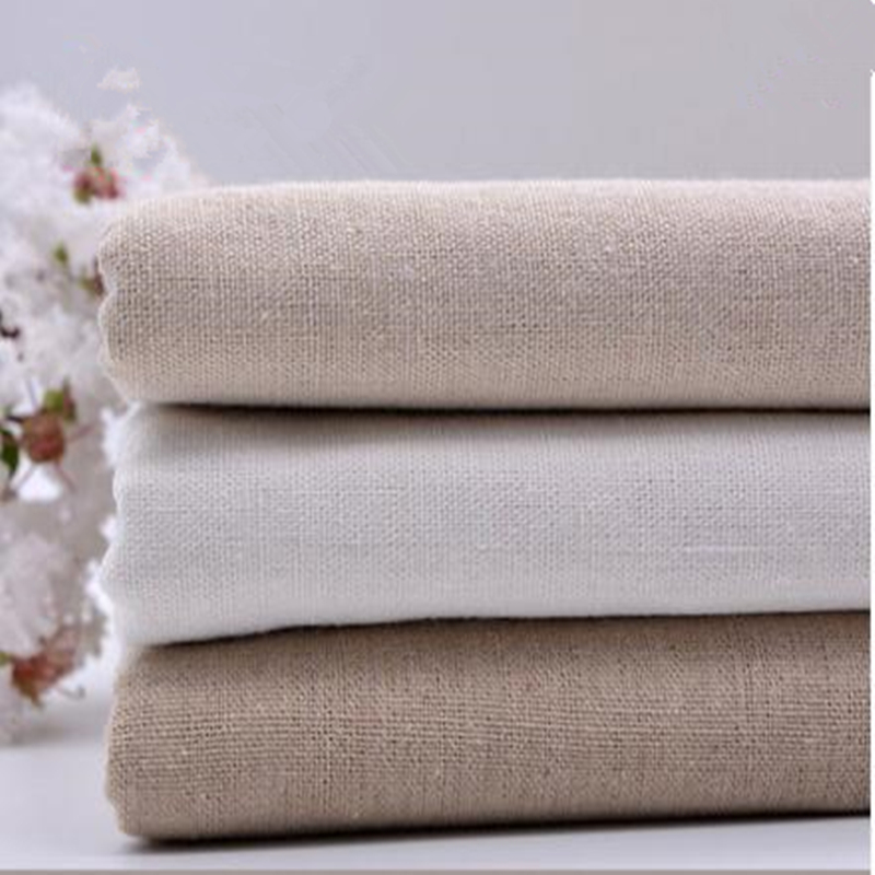1pcs 50 150cm linen fabric plain linen cloth linen - Cortinas de comedor ...