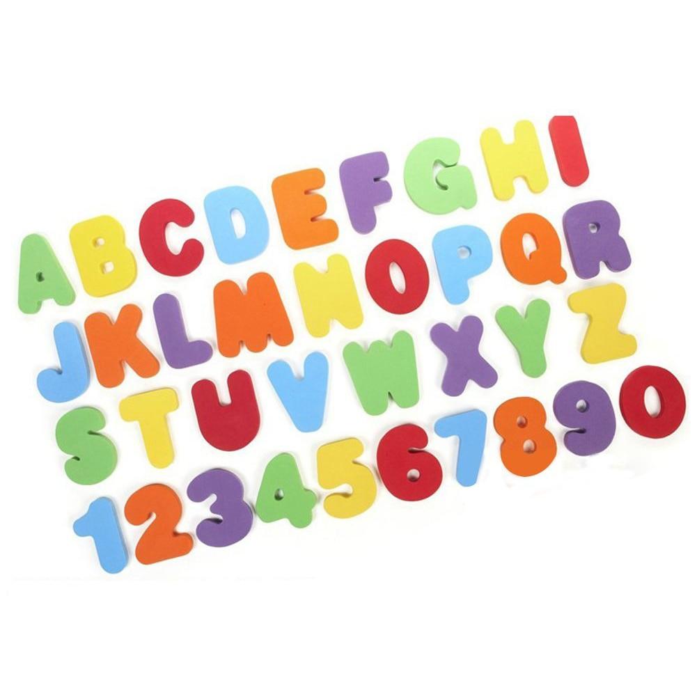 36pcs set Roman alphabet  number stick float  water play  bath toy children's kids baby educational toys (A-Z) (0-9) kids