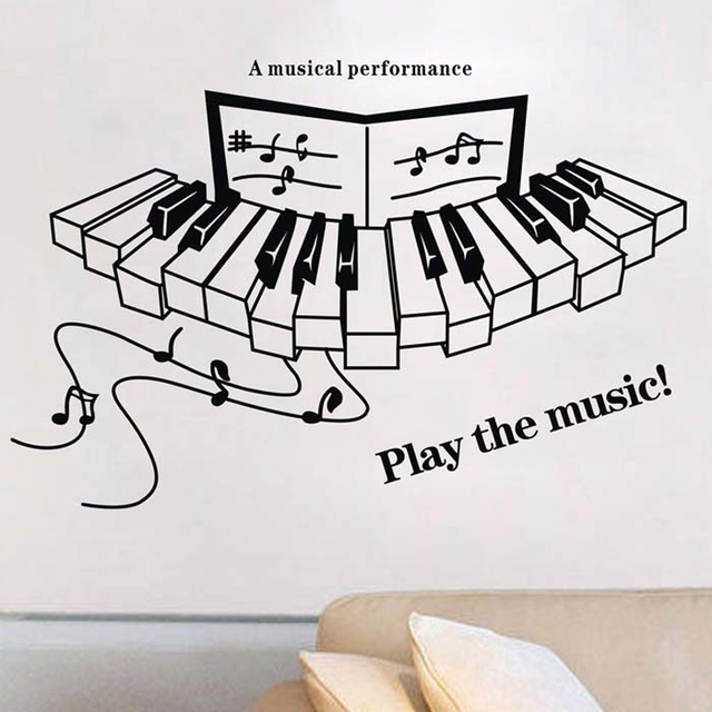 Play the music quotes vinyl wall decals piano musical - Over the garden wall soundtrack vinyl ...