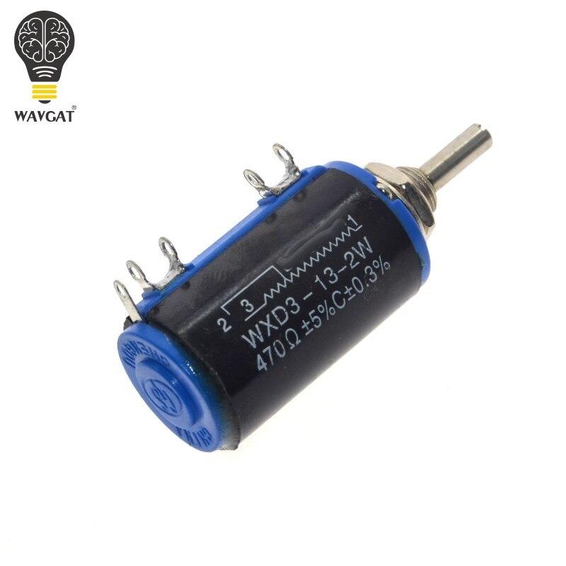WAVGAT WXD3-13-2W 100 200 220 470 680 Ohm 1K 2.2K 3.3K 4.7K 5.6K 6.8K 10K 22K 33K 47K 100K Ohm Wirewound Potentiometer