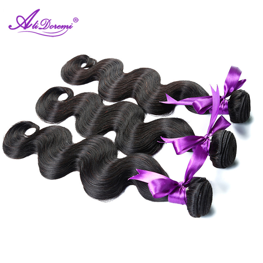 Alidoremi Hair Peruvian Body Wave Hair 3 Pcs Human Hair Bundles Non Remy Hair Extention 8-28 inch