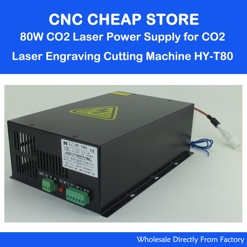 HY T80 220V/110V 80W Tube CO2 Laser Power Supply PSU Equipment DIY Engraver Engraving Cutting Laser Cutter Machine 80 reci power supply dy 10 80w 90w z2 w2 co2 laser tube cutting cutter 110v 220v diy part psu laser engraver engraving machine