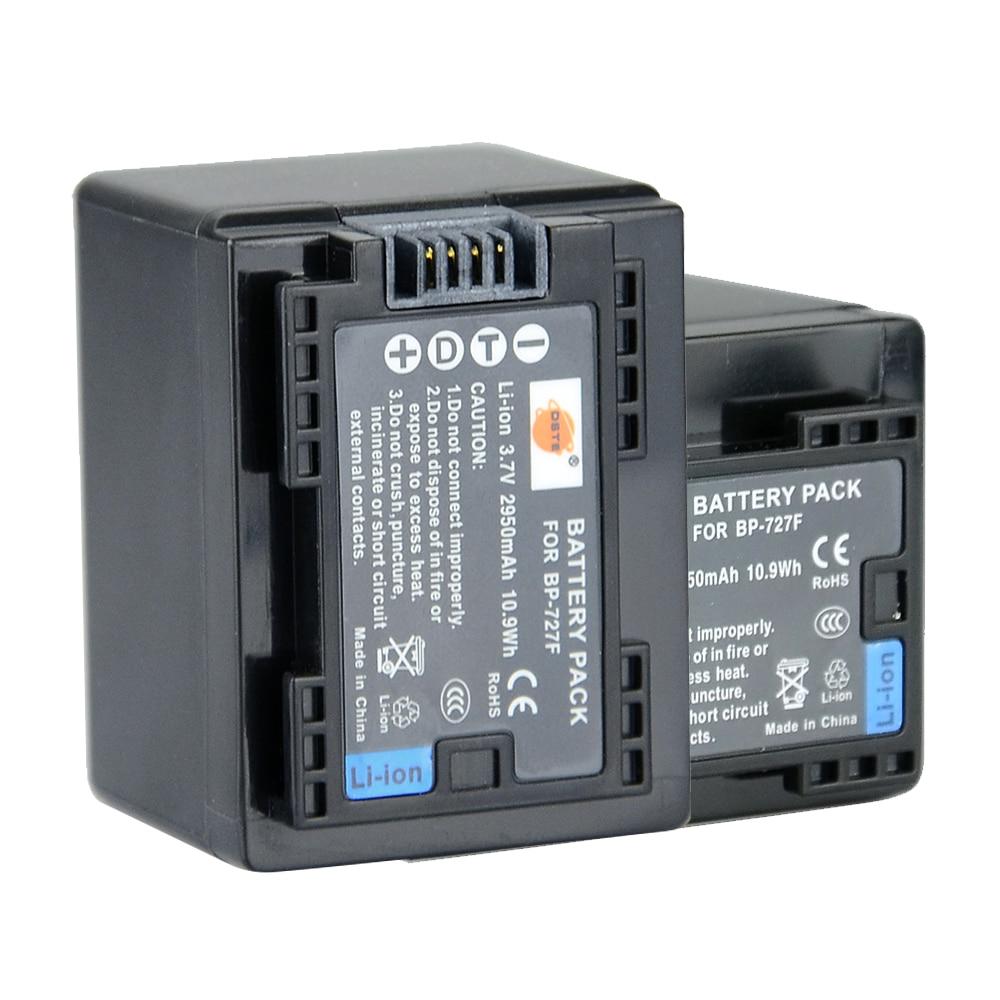 DSTE 2 PCS BP-727F Rechargeable Batterie pour Canon VIXIA HF M50 M500 M52 M56 M506 R30 R300 R32 R306 R36 R308 R506 R56 M60 Caméra