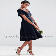 Satin Cap Sleeve Criss Cross V Neck Short Bridesmaid Dresses Knee Length Bridesmaid Dress Draped Backless