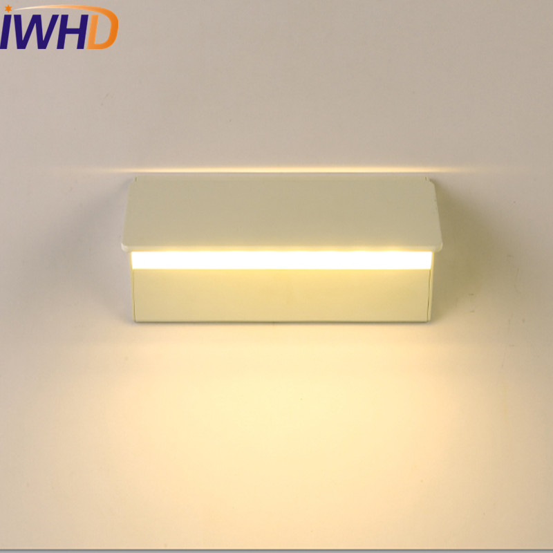 IWHD Simple Modern Wall Sconce Rotating LED Wall Light Fixtures For Home Lighting Bedside Wall Lamp Integrated Lampe Murale simple fashion modern wall sconce creative acrylic led wall light for home lighting bedside wall lamp integrated lampe lampara