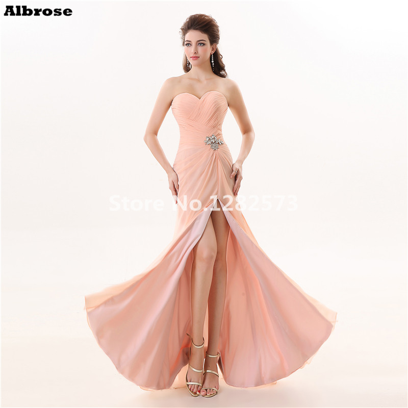 Cheap Simple Crystal Evening Dresses Long Evening Dress