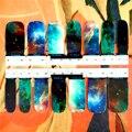 30 estilo Prego Envolve Adesivos, maravilhoso Espaço Universo Projetos, à prova d' água Artes Unhas Gel Polonês Foils Manter 2-3 semanas