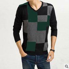 Men Sweater -GFS- The New Autumn And Winter Fashion V Collar Sweater Men's Square Fabulous Accessories #1570570