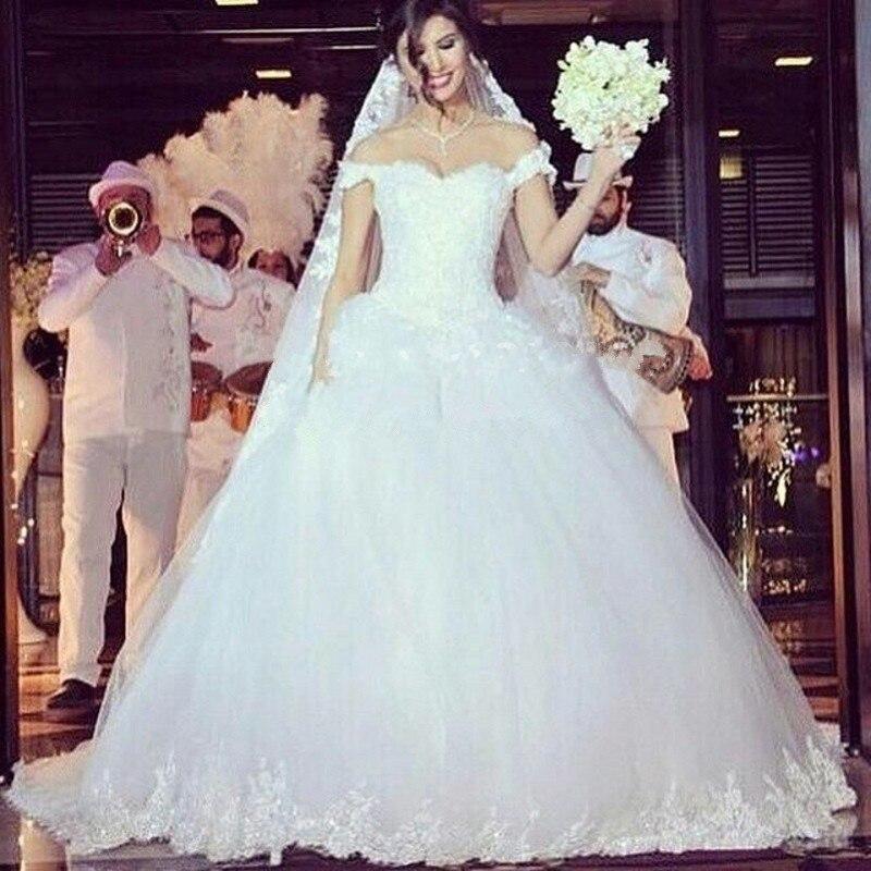 Vestido De Noiva 2018 Princess Wedding Dress Ball Gown Off: Vestido De Noiva Vestido Casamento Off The Shoulder Ball