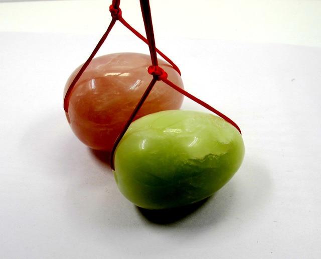 Drilled natural rose quartz new jade egg yoni egg for kegel exercise 2pcs/lot App38-49mm