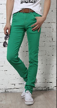 Green Skinny Jeans Mens Photo Album - Reikian