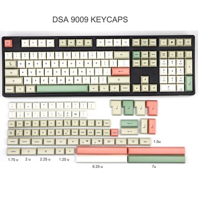 In Stock  PBT DSA 9009 Keycap Set dye subbed keycaps