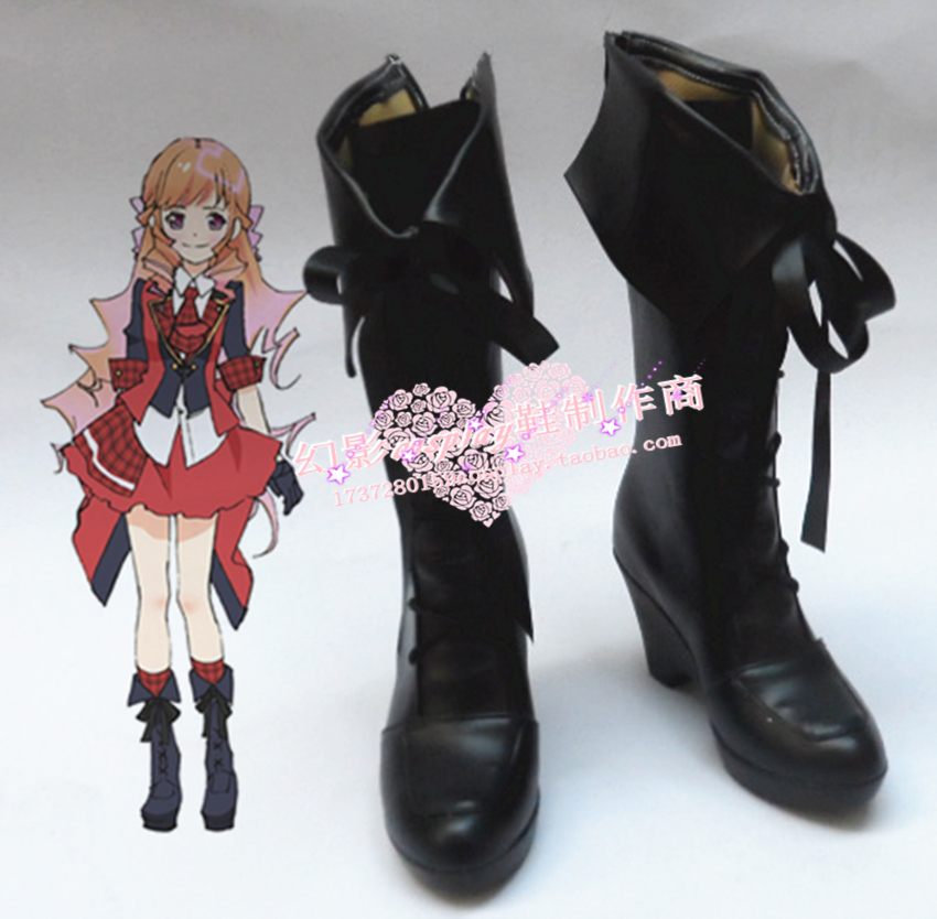 AKB0048 Kashiwagi Yuki Black Halloween Long Black Girls Cosplay Shoes H016-in Shoes from Novelty & Special Use    1