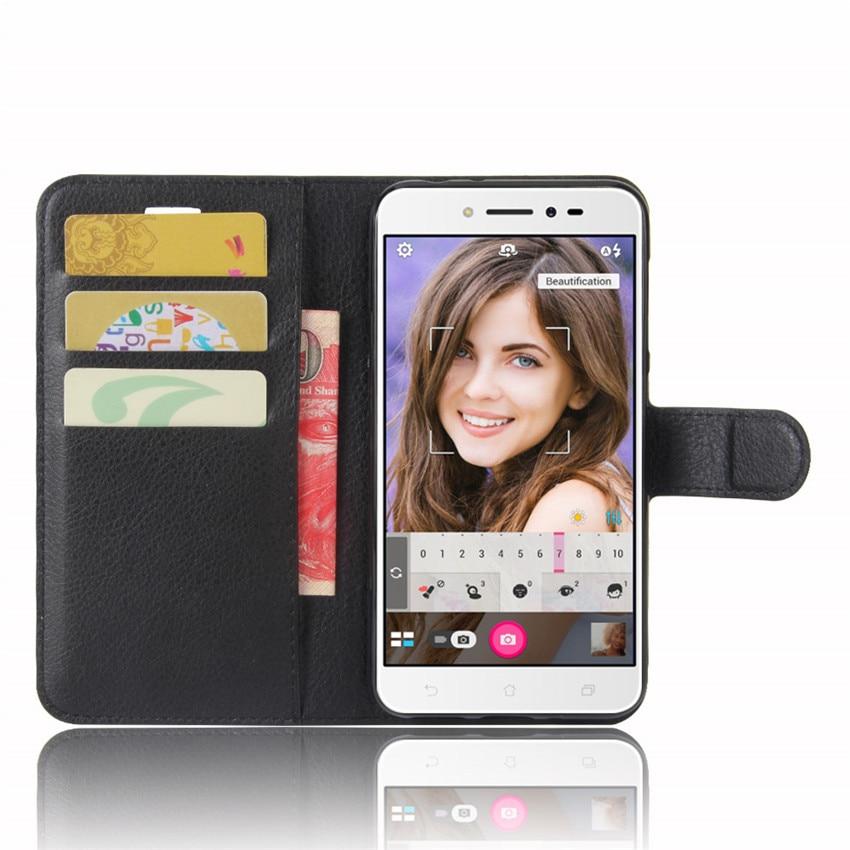 För Asus ZenFone Live ZB501KL Fodral Hög kvalitet Flip läderfodral - Reservdelar och tillbehör för mobiltelefoner - Foto 3