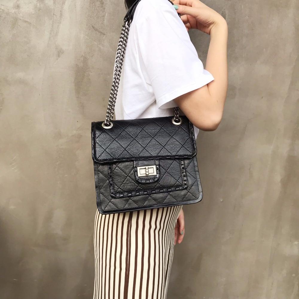 100% Genuine Leather Handbags Bags Chain Crossbody Shoulder Evening Clutch Bags Bolsa