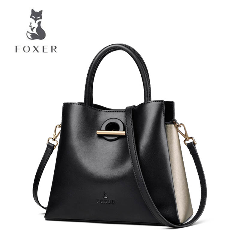 FOXER 2018 New women leather bag fashion bag luxury women leather handbags tote shoulder bag Handbags new arrival leather handbags women fashion phone bag female storage wallets