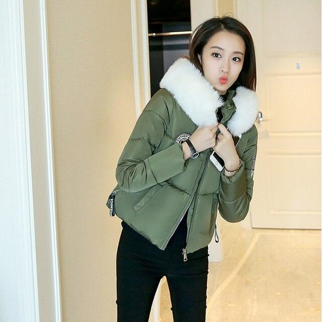 bd6d45a0d91d0 Hot Sale! 2017 New Winter short coat Women Cotton Inner jacket Fashion Slim plus  size Thickening Warm jacket women   Parka ZL410