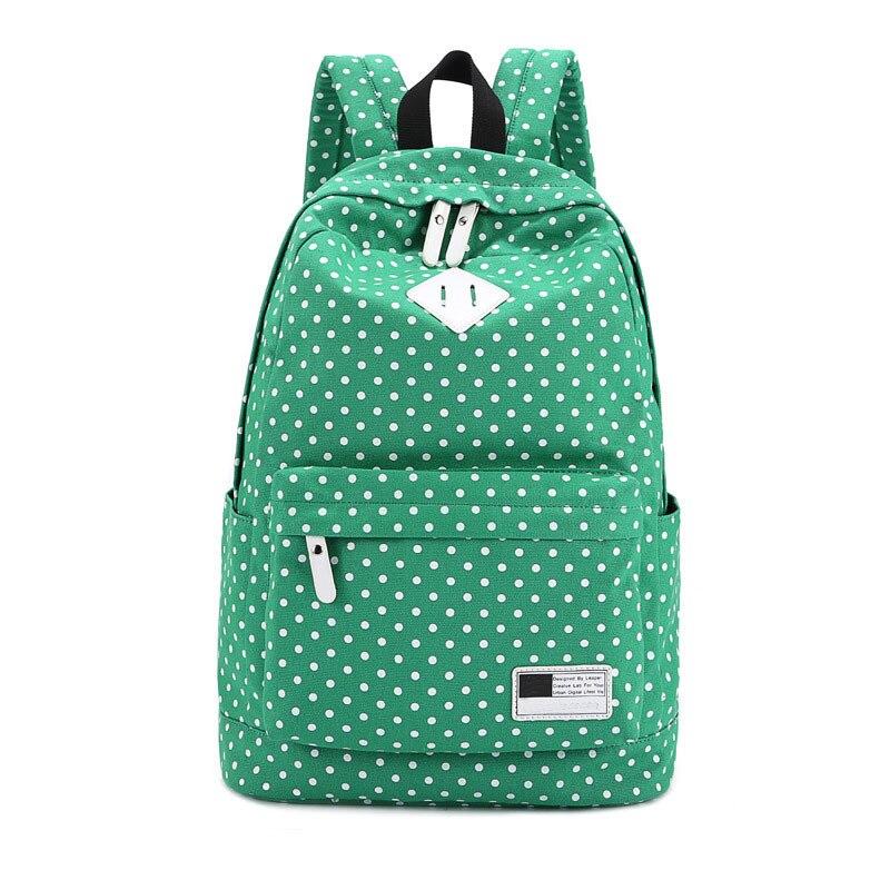 Fashion women backpack Polka Dot Canvas Printing Backpack for girls school backpacks Mochila Mujeres Backpacks Travel