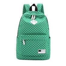 Модные женские рюкзак в горошек печати холст рюкзак для девочек школьные рюкзаки Mochila Mujeres рюкзаки туристические рюкзаки