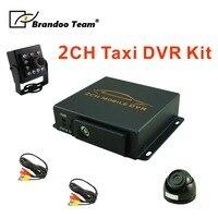 2CH видеорегистратор для такси + 2шт камера, полный комплект такси видеомагнитофон горячая распродажа