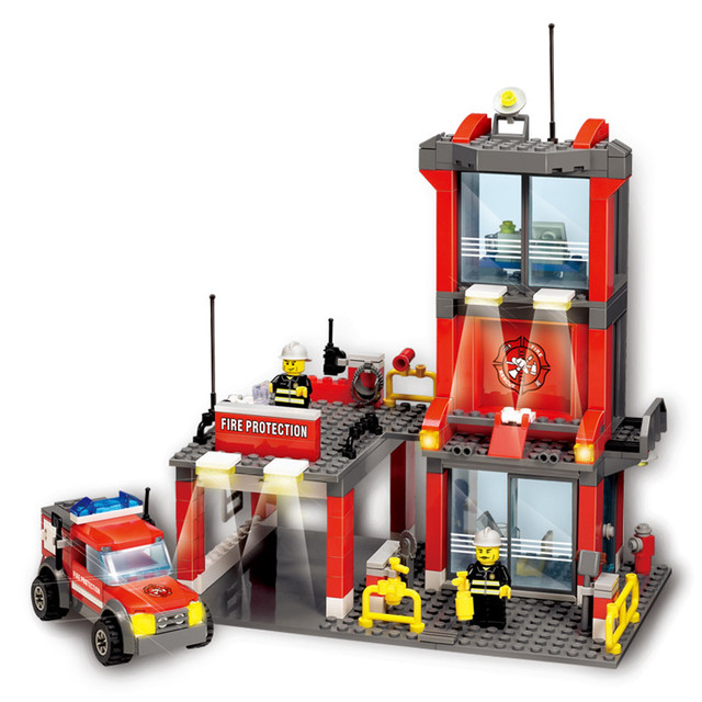 Fire Department 300pcs/set DIY Building Kits