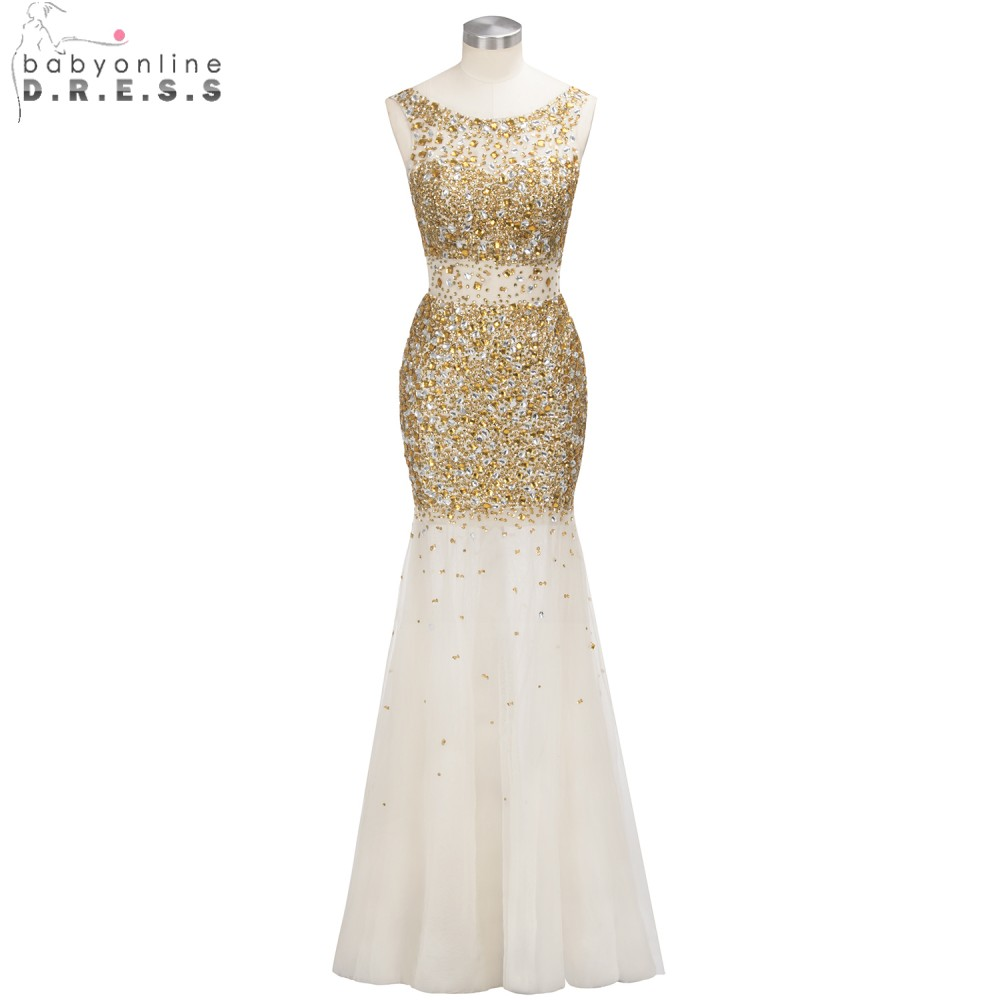 Custom Made Luxurious Heavy Beaded Mermaid   Prom     Dresses   2019 Sexy Backless Crystal Formal Evening Party Gowns vestido de noiva