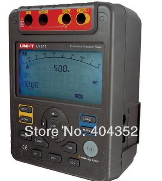 UNI-T UT511 Insulation Resistance Tester 100V/250V/500V/1000V Output Voltage benetech gm3125 energy saving portable 12v 1 4ma voltage overload insulation resistance tester