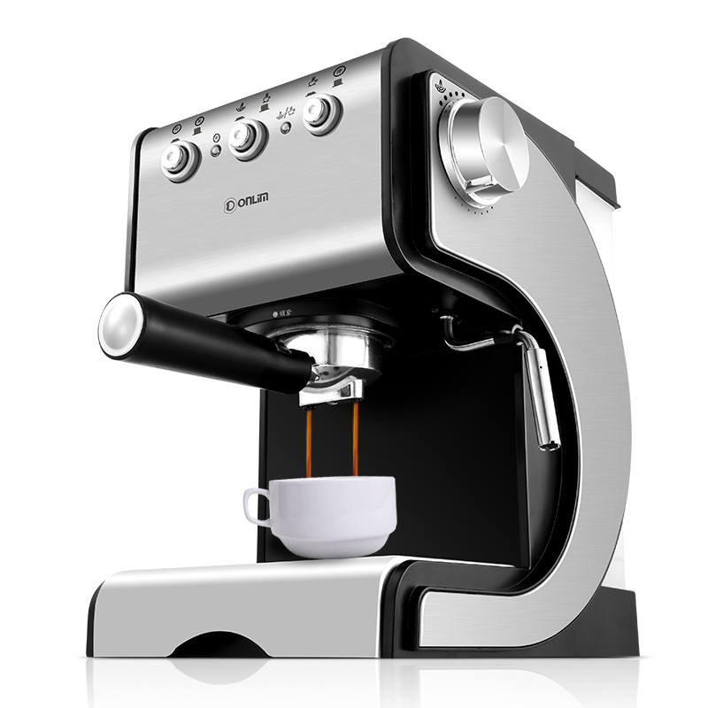 Coffee Machine  Home Semi-automatic Italian Commercial Steam Type Playing Milk Bubble espresso machine homemade cappuccino commercial semi automatic type steam milk coffee machine tsk 183