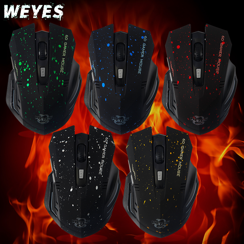 New 2017 HOT Sale  6Keys USB Wireless Gaming Mouse Optical Computer Game Mouse 2.4G WIFI Wireless Mouse For Gamer