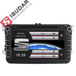 Image 2 - Isudar samochodowy odtwarzacz multimedialny GPS 2 Din Autoradio dla VW/POLO/PASSAT b6/golf 5/Skoda/Octavia/SEAT/LEON radio dvd automotivo DAB