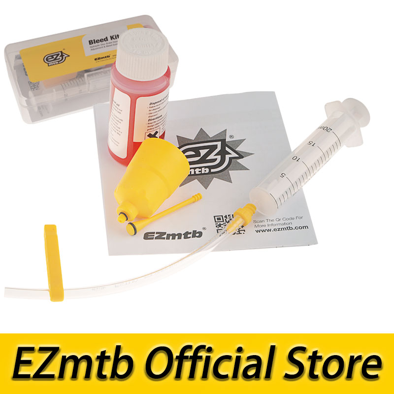 free shipping! ezmtb bleed kit with 60ml mineral oil for shimano hydraulic disc brake M355 315 395 446 447 596 615 785 8000 9000 цена