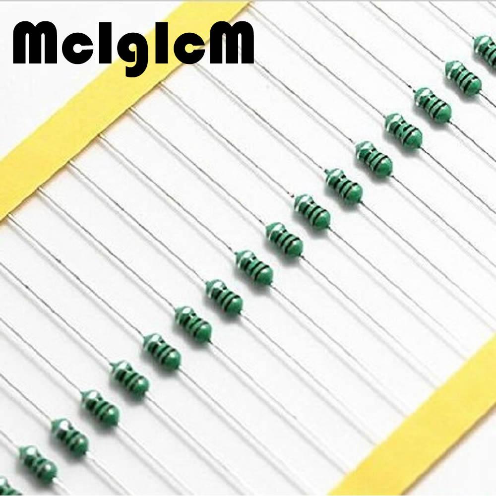 McIgIcM 100pcs Color circle Coils 1W 0510 inductor 470uH 560uH 680uH 820uH 1000uH 1200uH 1500uH 2200uH 3300uH 4700uH 10000uH