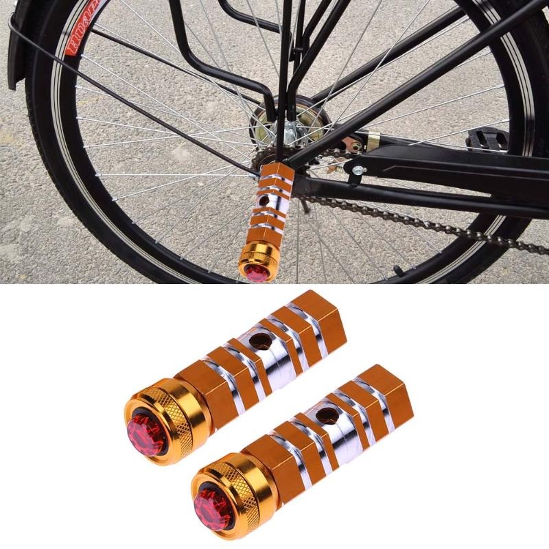 90mm Bicycle Pedal Front Rear Axle Foot Pegs MTB Road Bike bottom Bracket Footrest Parts With LED Safety Light